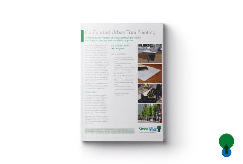 Co-Funded Urban Tree Planting Trial Leaflet